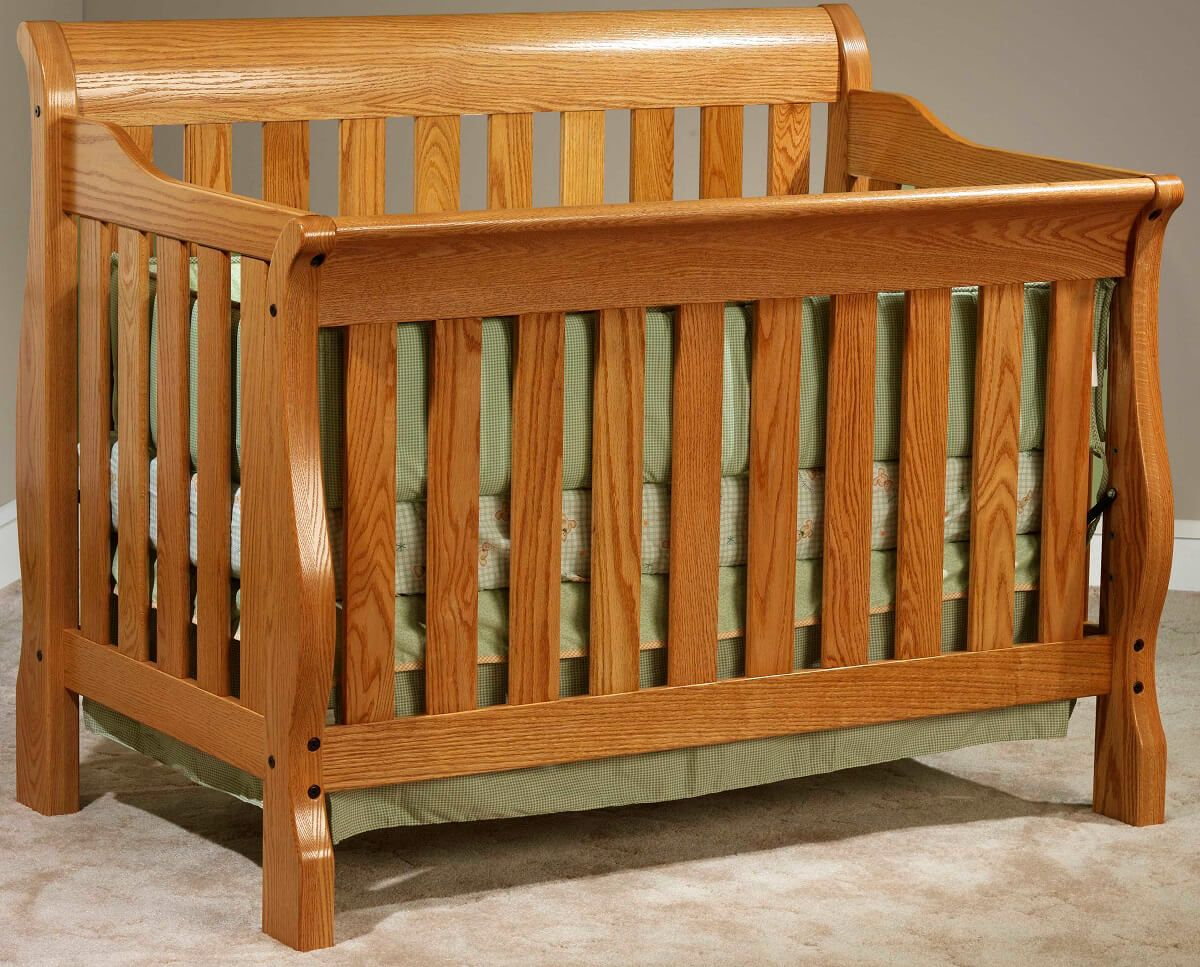 Geneva Slat Crib in Oak with Spiced Apple finish