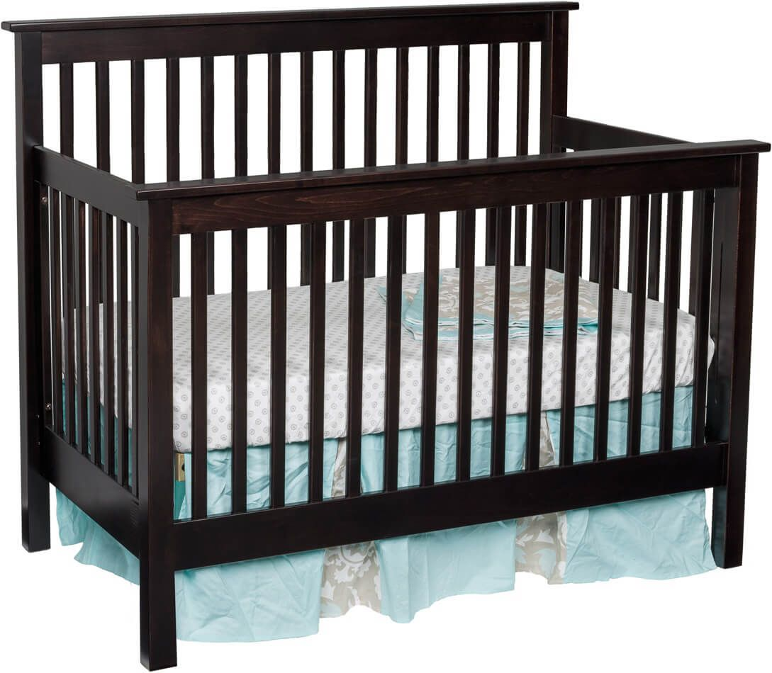 Peaceful Dreams Baby Crib in Brown Maple with our Venezuelan Chocolate finish