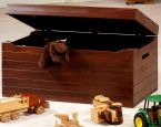 Peaceful Dreams Toy Box in Brown Maple with Christmas Cloves stain