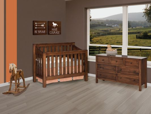 Peaceful Dreams Panel Crib Set