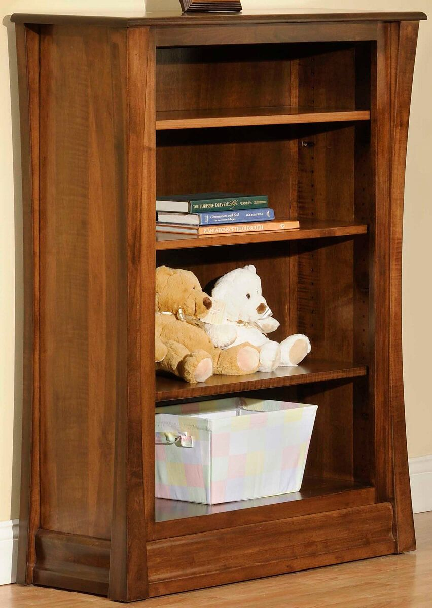 Rosewood Bookshelf in Brown Maple with Burnished Honey finish