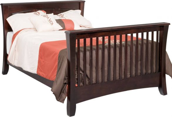 Rosewood Solid Panel Crib Countryside Amish Furniture