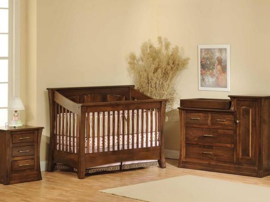 Rosewood Panel Nursery Collection in Brown Maple with Devonshire finish