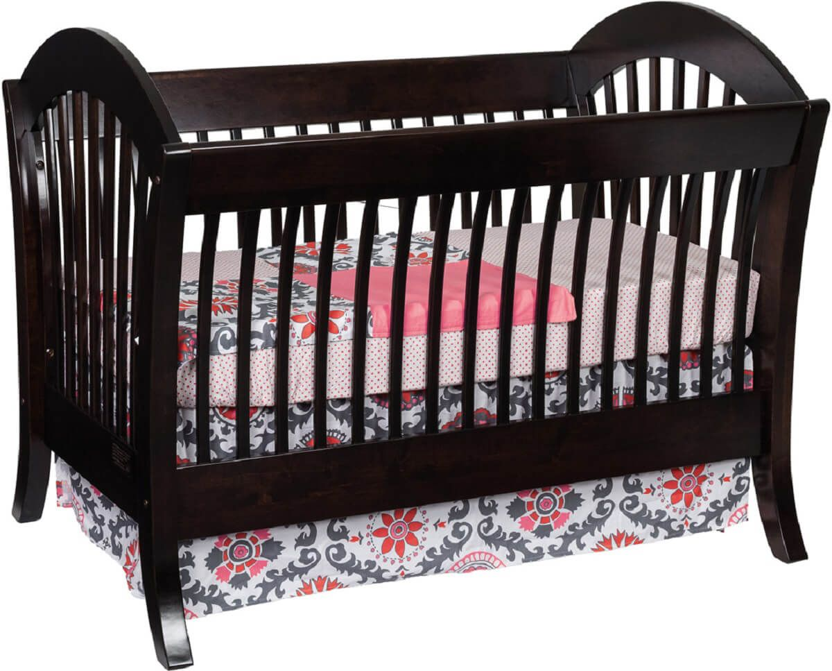 West Village Crib in Brown Maple with Winter Bark stain