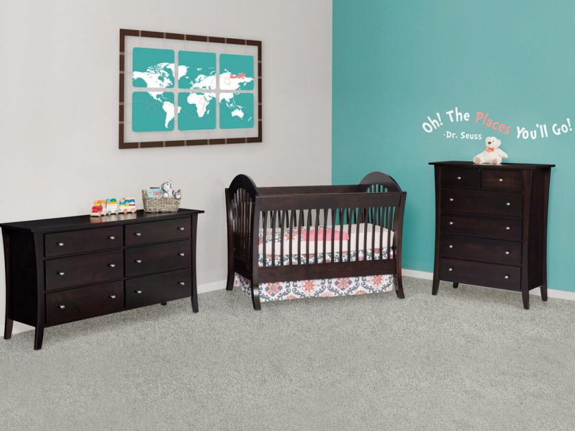 West Village Solid Wood Baby Crib Set Countryside Amish