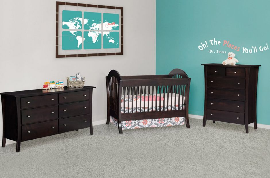 Amish Solid Wood Baby Furniture West Village Nursery Set Image 1