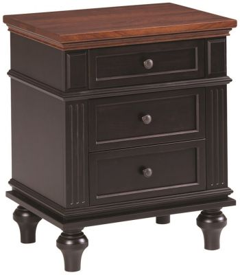 Alexandria 3-Drawer Nightstand