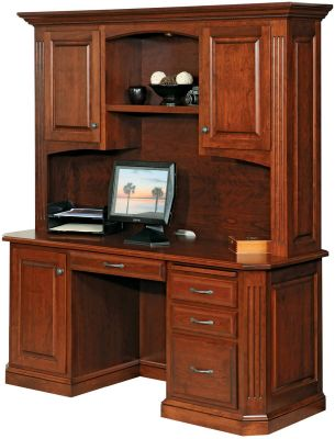 Cavalier Solid Wood Computer Desk Countryside Amish Furniture