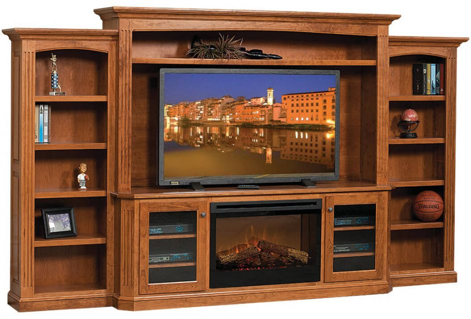 Cavalier Entertainment Center With Fireplace Countryside