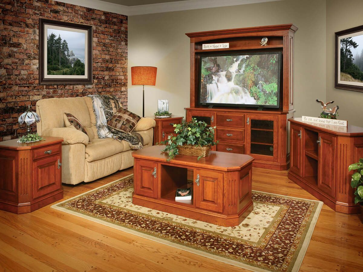 Cherry Wall Entertainment Center