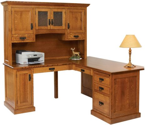 Hanover Mission L Shaped Desk Countryside Amish Furniture
