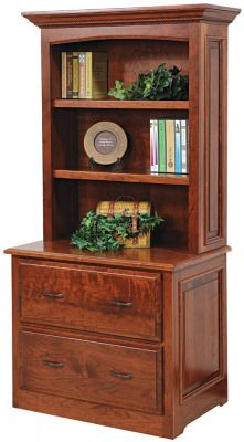 Irvine Lateral File With Bookcase Countryside Amish Furniture
