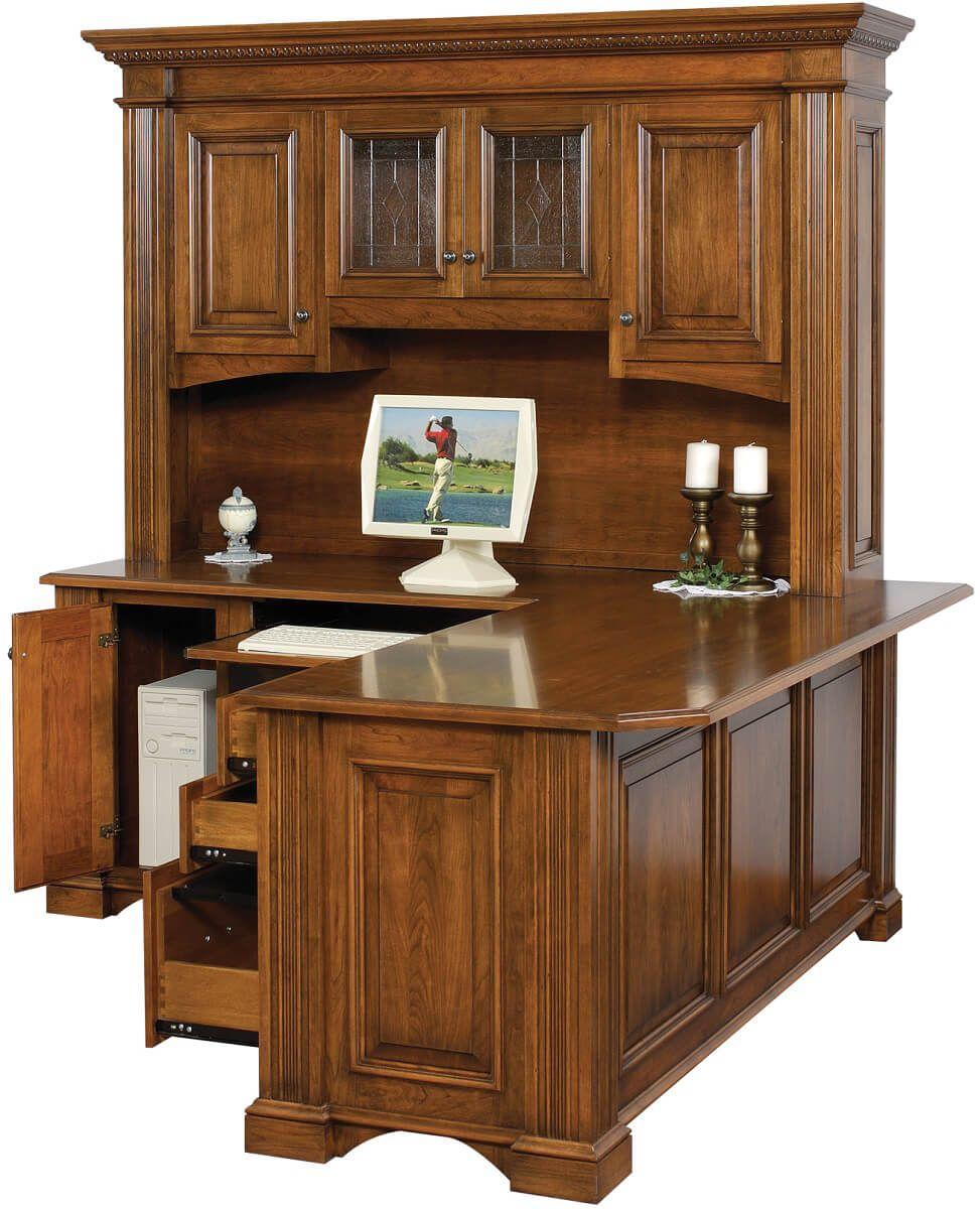 Brown Maple Corner Desk