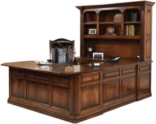 New Haven Old World U Shaped Desk Countryside Amish