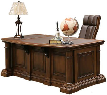 Newcastle Executive Desk With Leather Insert