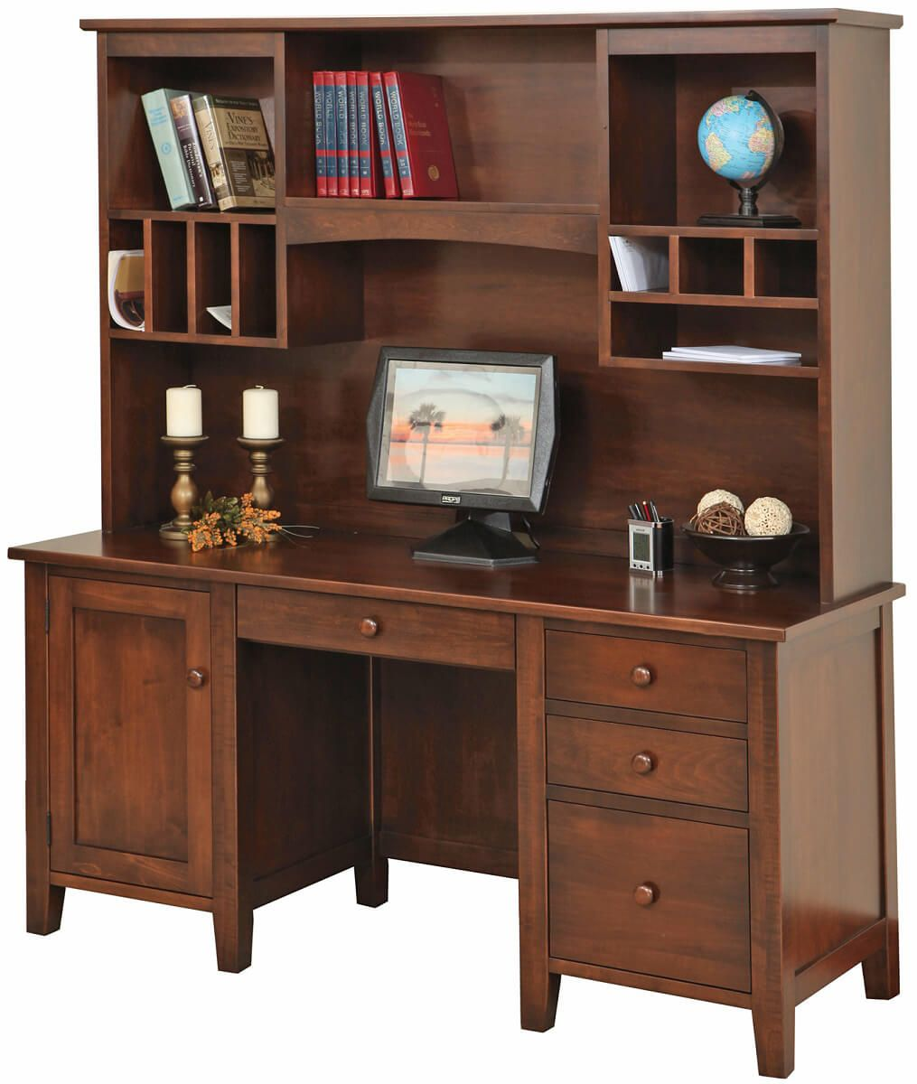 Rochester Brown Maple Computer Desk   Countryside Amish Furniture