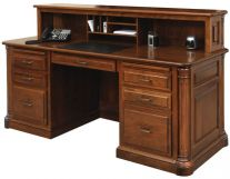 Vanderbilt Executive Desk with Privacy Cubby