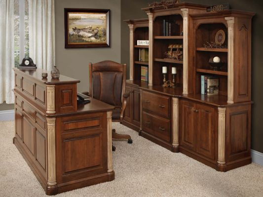 Vanderbilt Traditional U Shaped Desk Countryside Amish
