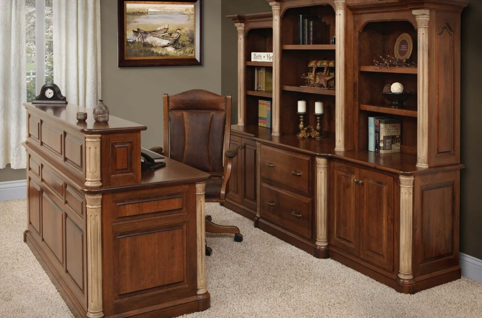 Vanderbilt Office Furniture Collection Countryside Amish Furniture