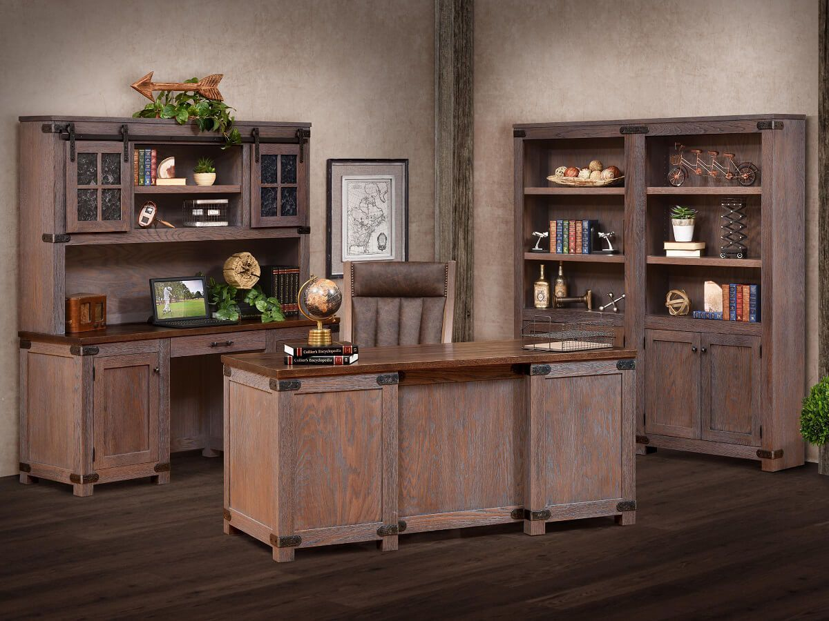 Cave Creek Rustic Executive Desk Countryside Amish Furniture