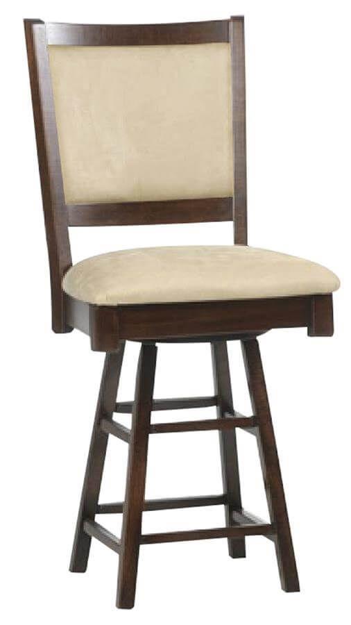 Fully upholstered Anjous Swivel Pub Stool
