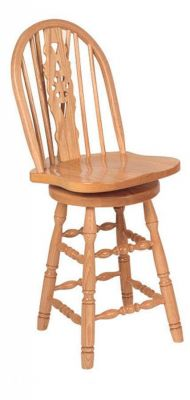 Denmark Low Windsor Slot Swivel Stool