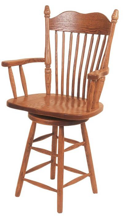 Kittery Kitchen Counter Stool in solid Oak