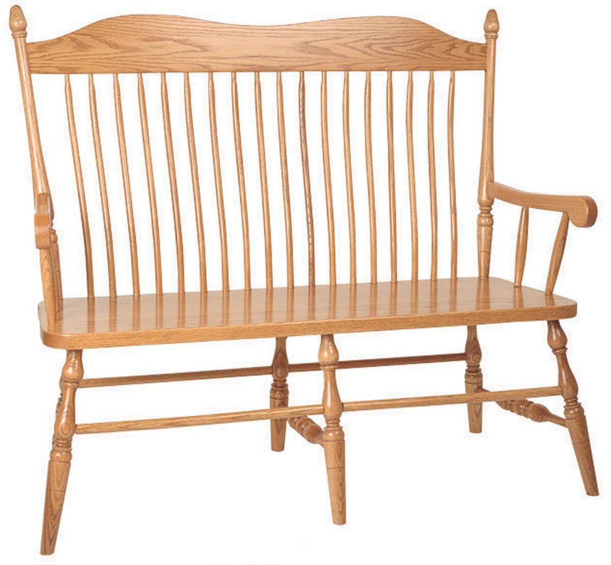 Kittery Oak Spindle Back Bench