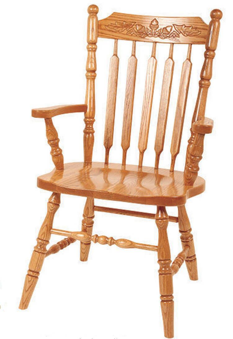 Larking Solid Wood Arm Chair