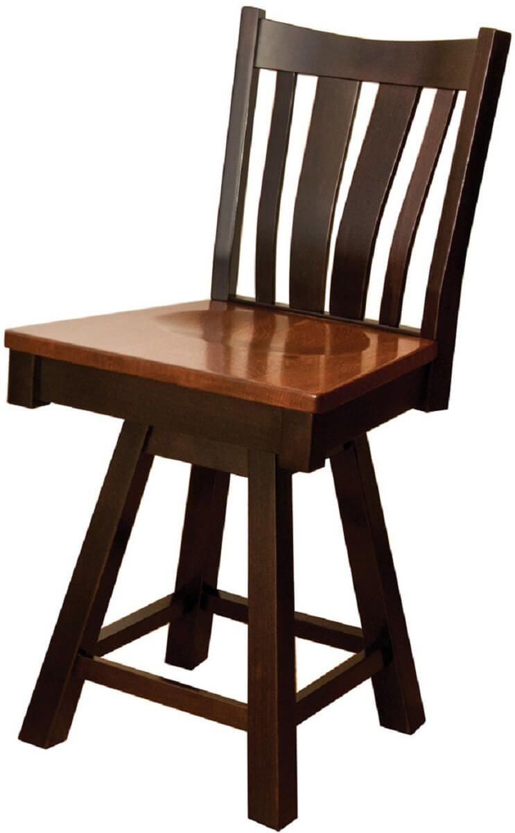 Lundy Swivel Bar Chair- Countryside Amish Furniture