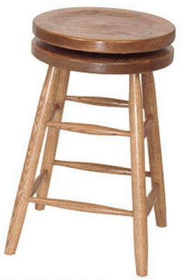 Mickey's Swivel Barstool in solid Oak