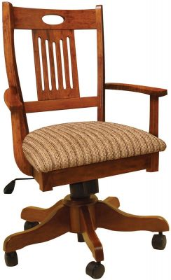 New Bern Mission Style Desk Chair Countryside Amish Furniture