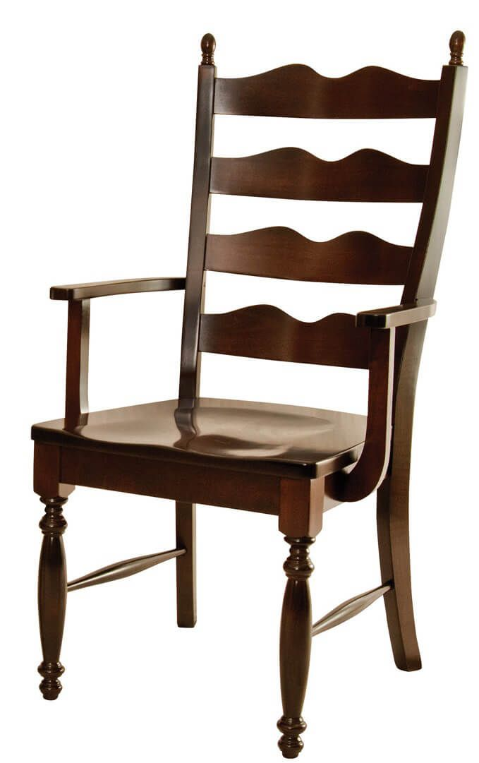 Normandy Ladder Back Dining Chair Countryside Amish