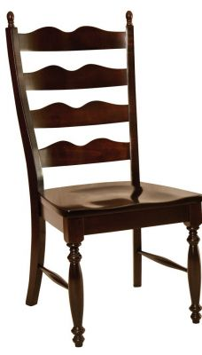 Incredible Normandy Ladder Back Dining Chair Countryside Amish Furniture Download Free Architecture Designs Grimeyleaguecom