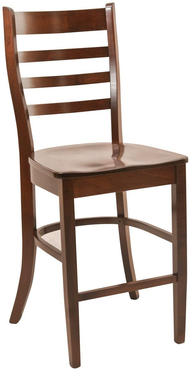 St. Lucia Bar Chair in Brown Maple