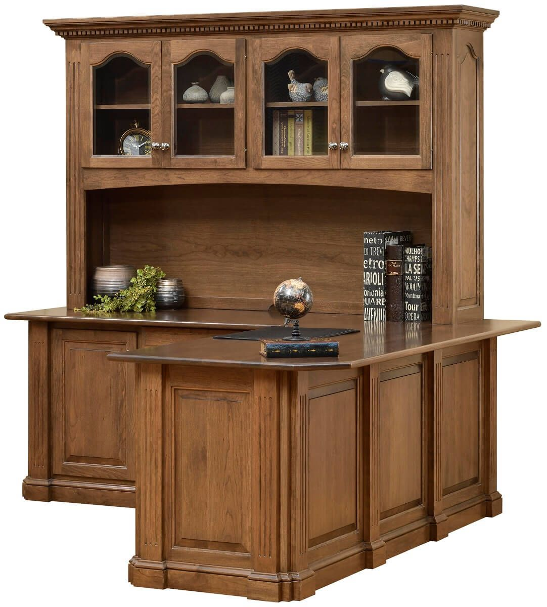 Cherry Corner Desk with Hutch