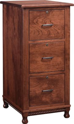 3-Drawer Cherry File Cabinet