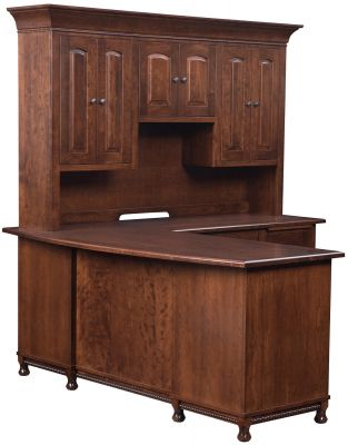 Amish Made L-Shaped Desk and Hutch