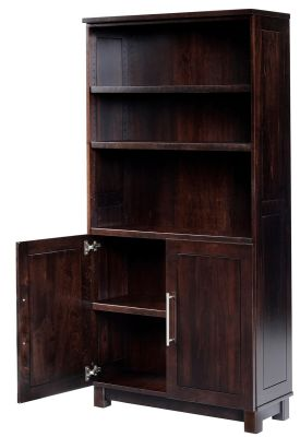 Omega Bookcase with Storage opened