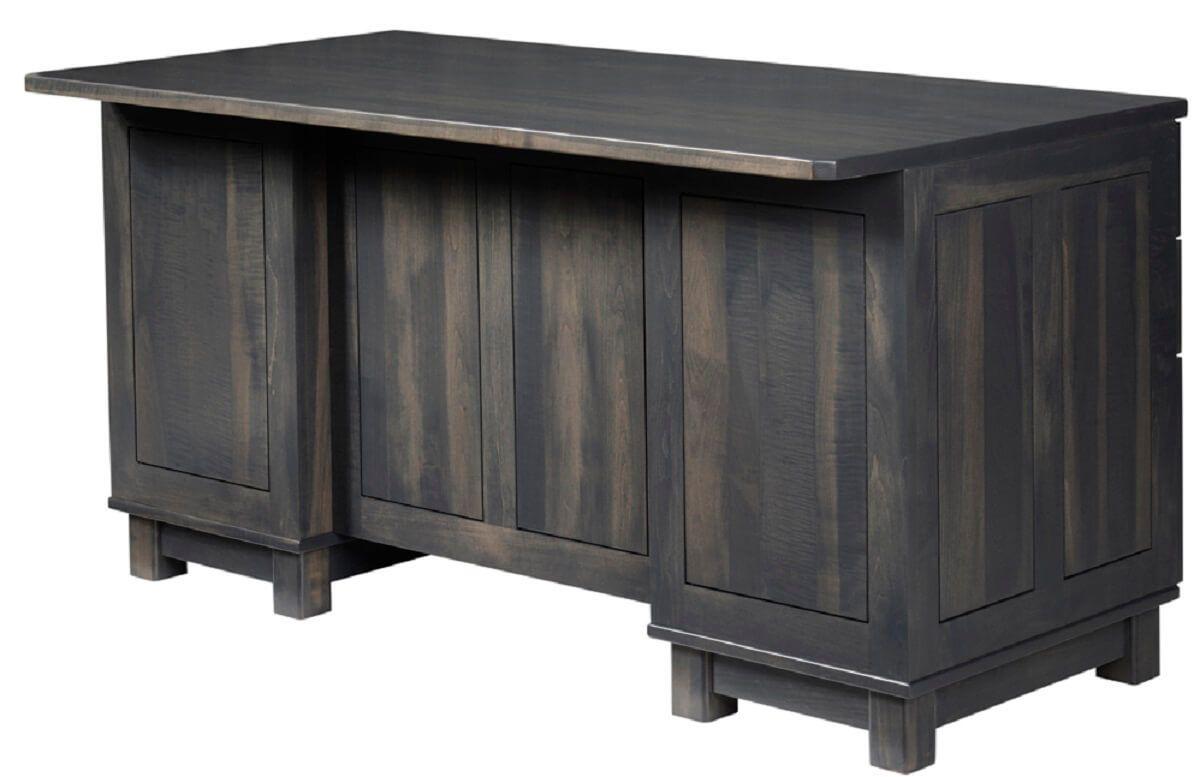 Gray Wood Executive Desk