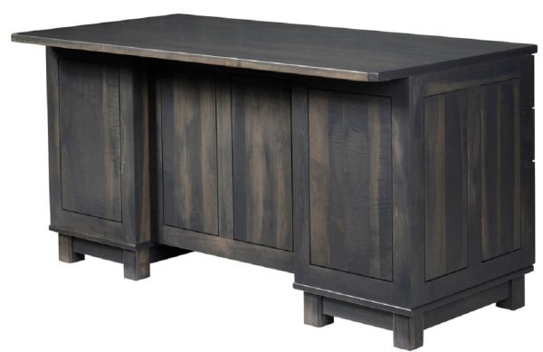 Gray Wood Executive Desk
