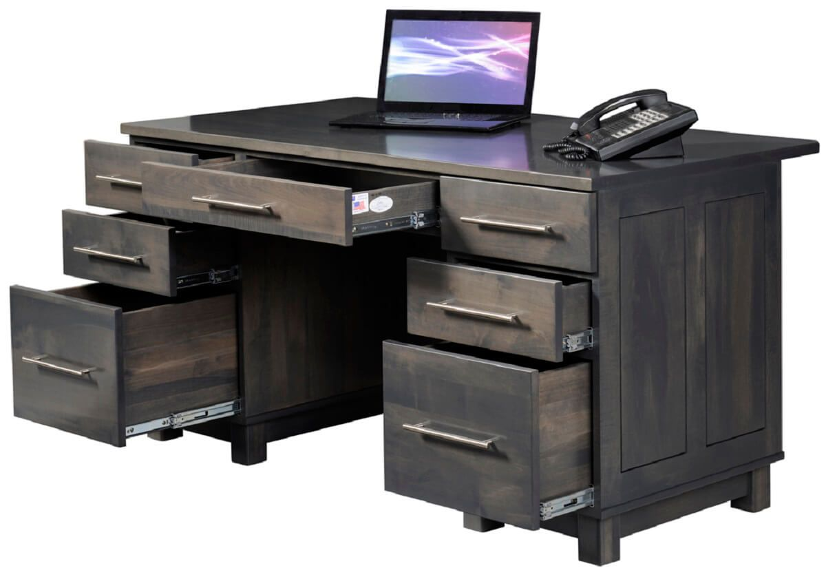 Gray Amish Office Desk