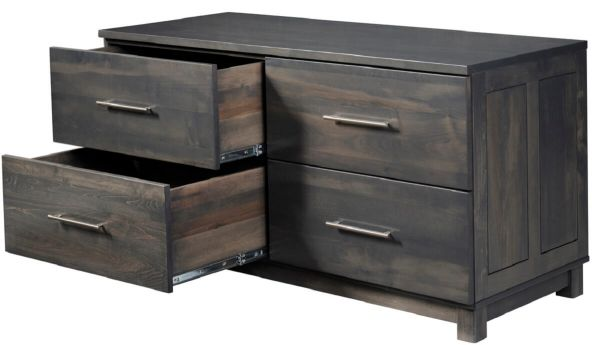 Omega Hardwood Lateral File Credenza Countryside Amish