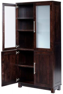 Omega Bookcase with Doors opened