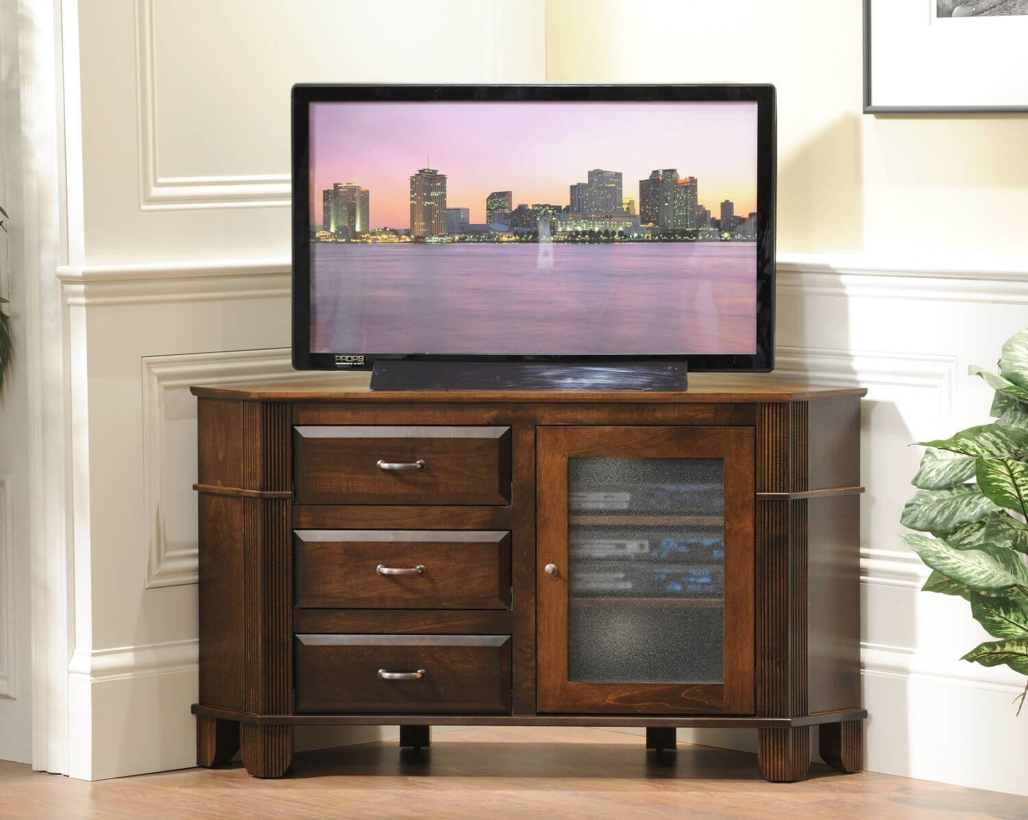 West point tv stand with tv