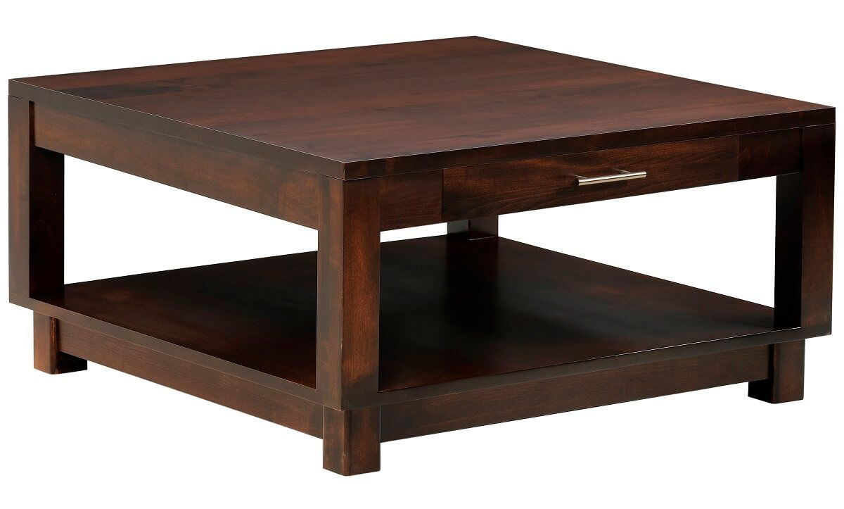 Cartier Square Coffee Table with Drawer