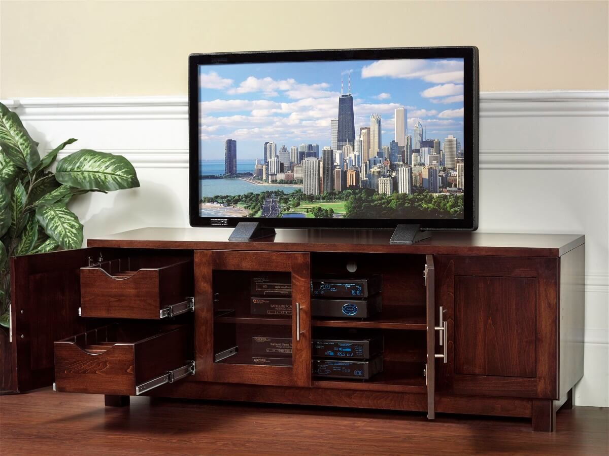 Modern Hardwood TV Console