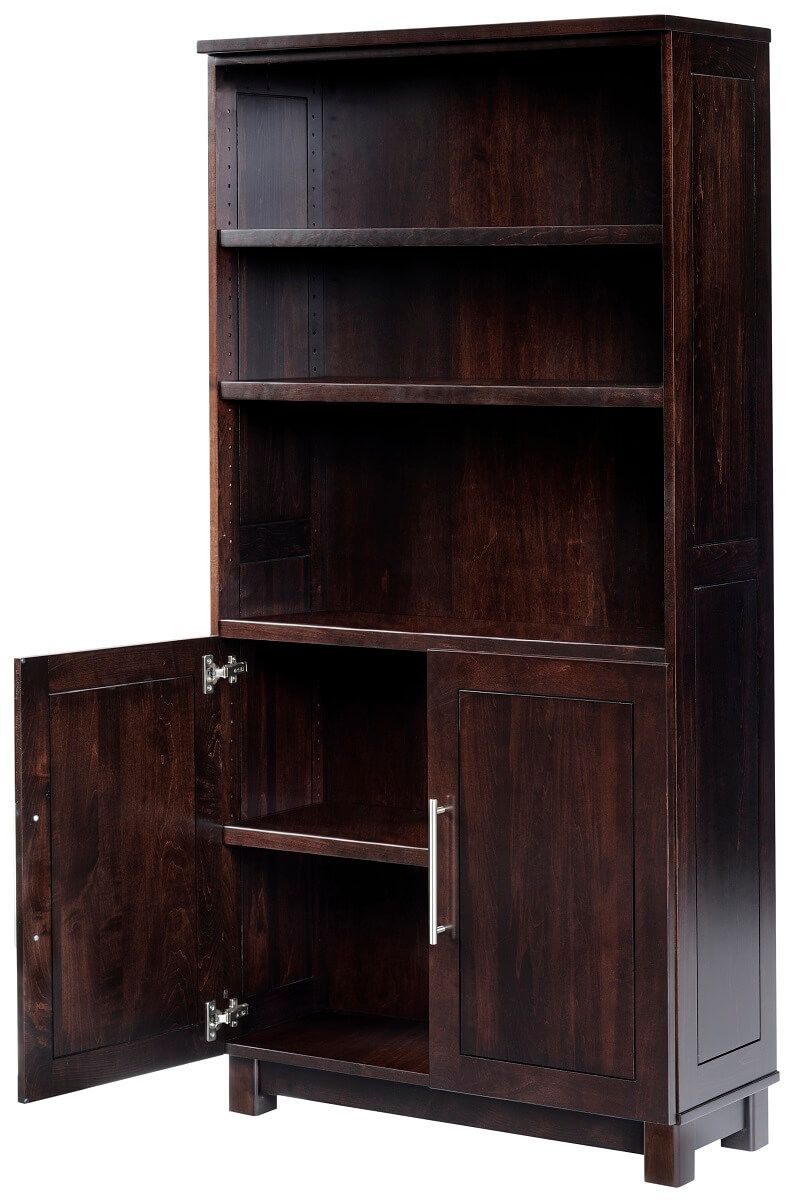 Modern Bookcase with Cabinet