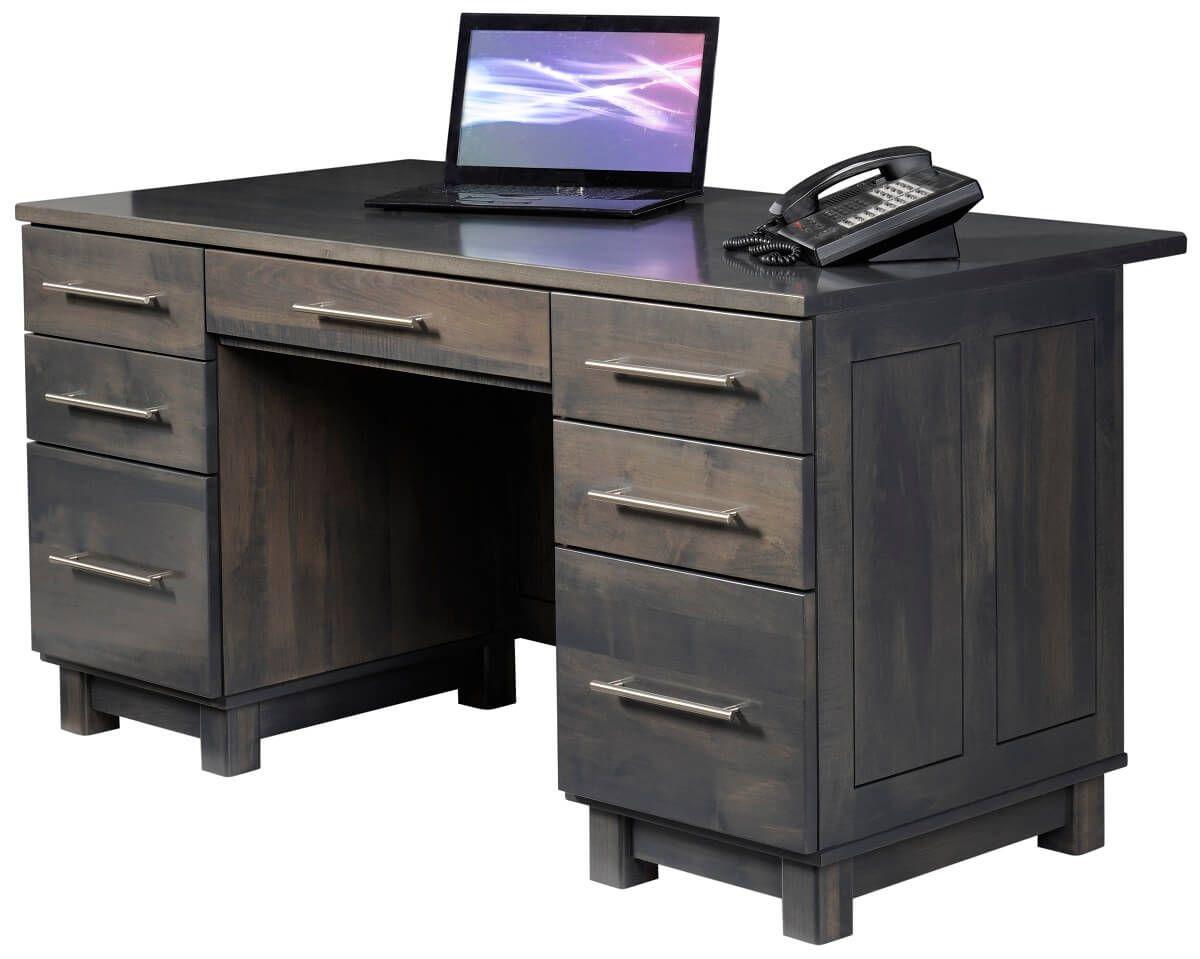 Omega Gray Executive Desk
