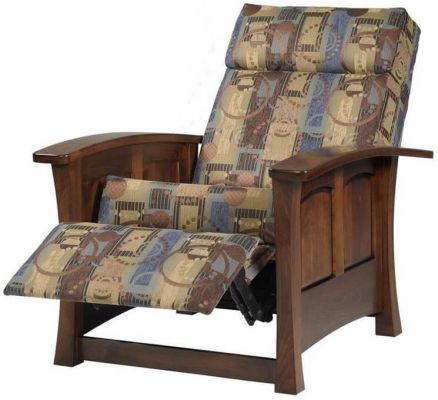 Brown Maple Living Room Chair